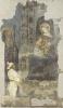 Thronende Madonna mit Kind. Fresko aus St. Stephan